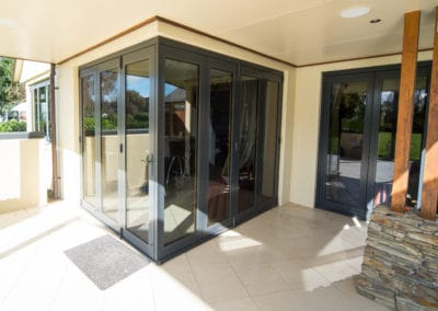 Aluminium bifold doors - retrofitted with double glazing