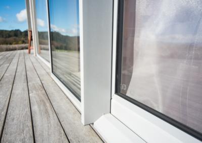 Close-up - double glazed sliding doors
