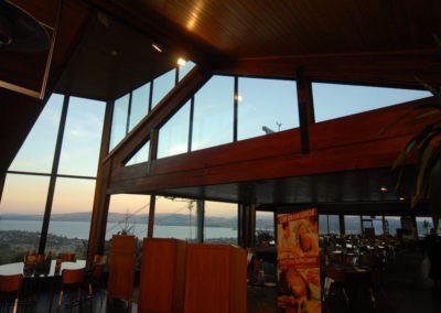 Amazing vierws over Lake Rotorua, SuperTherm Cool double glazing selected for its neutral properties and thermal solar reduction