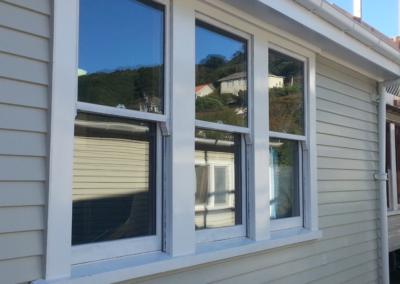 Kahurangi School - showing double glazed double hung windows