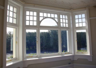 1904 bay window with curved colonial beads, double glazed