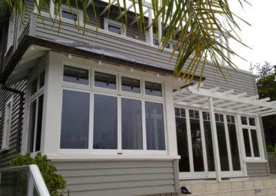 Timber Retrofit -  bifold and fanlight awning windows