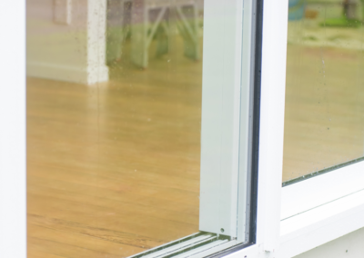 Replacement double glazed sliding door - bottom detail